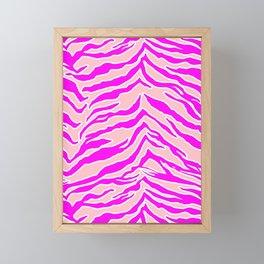 Tiger Print - Pink & Pink Framed Mini Art Print