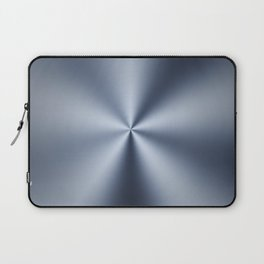 Radial Brushed Metal Texture Design Illustration Laptop Sleeve