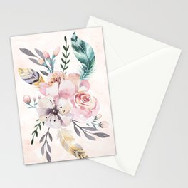 Forest Floral Pink by Nature Magick Stationery Cards