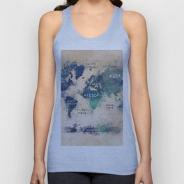 world map 138 #worldmap #map Unisex Tank Top