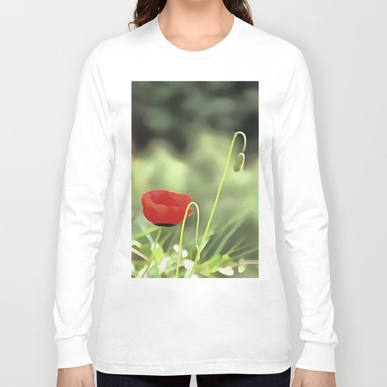 One Poppy Long Sleeve T-shirt