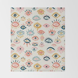 Mystic Eyes – Primary Palette Throw Blanket