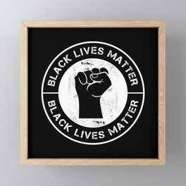 Black Lives Matter BLM Equality Protest Framed Mini Art Print
