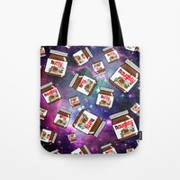 nutella Tote Bags featuring NUTELLA NEBULA by SteffiMetal