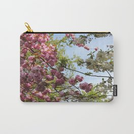 Pink and White Blossoms Carry-All Pouch