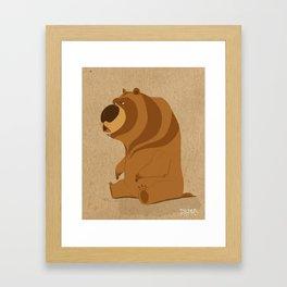 Huh! Bear Framed Art Print