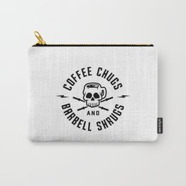 Coffee Chugs And Barbell Shrugs v2 Carry-All Pouch
