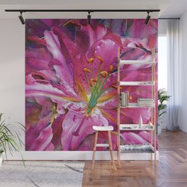 Star Gazing Star Lily Wall Mural