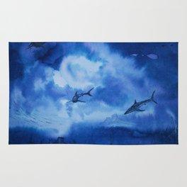 Ink sharks Rug
