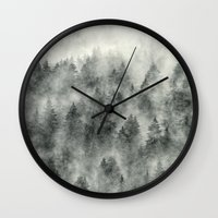 grunge Wall Clocks featuring Everyday by Tordis Kayma