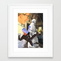 spiritual Framed Art Prints featuring Spiritual Freefall by Michael Harford