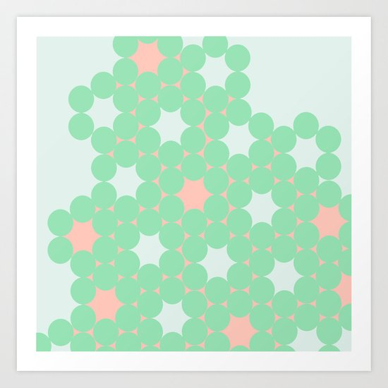 Teal Dot Art Print