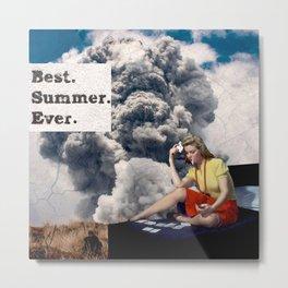 Best Summer Ever - Vintage Inspired Collage Art Metal Print
