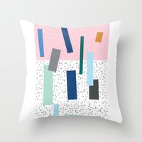 friday Throw Pillows featuring Friday by Mimmi Wide