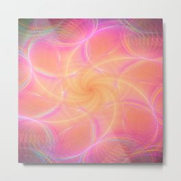 Pastel Abstract Metal Print