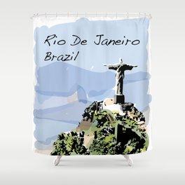 Rio De Janeiro Brazil Christ the Redeemer Shower Curtain