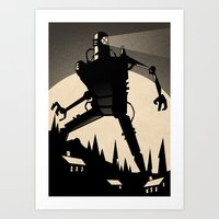 iron giant Art Prints featuring 'Iron Giant' by Stone Adrian