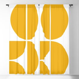 Mid Century Modern Yellow Square Blackout Curtain