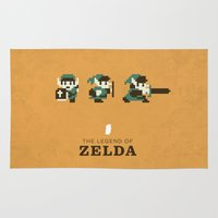 legend of zelda Area & Throw Rugs featuring The Legend of Zelda by Brandon Riesgo