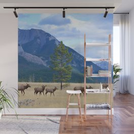 Bull Elk with his Harem Wall Mural