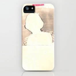 """withdrawn"" iPhone Case"