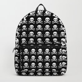 Skull and X-Bones in Black and White (Smaller) Backpack