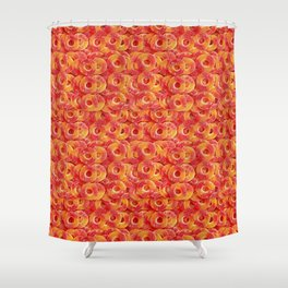 Gummy Sour Peach Rings Photo Pattern Shower Curtain