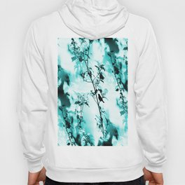 Silhouette of songbird on a branch in turquoise variation #decor #society6 Hoody