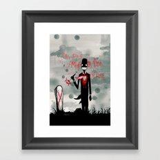 I'M FINE. Framed Art Print