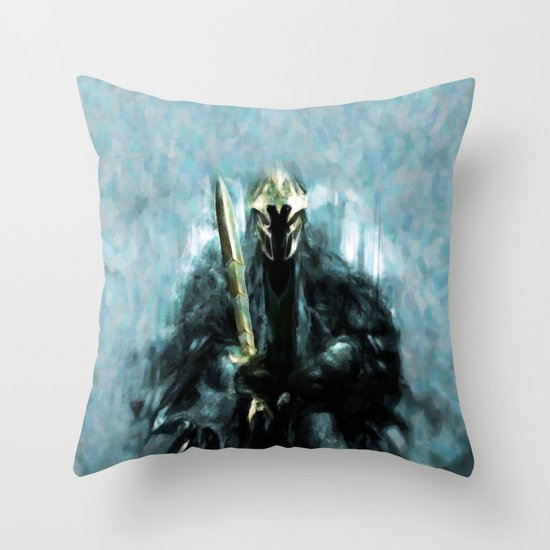Nazgul After The Ring - Painting Style Throw Pillow