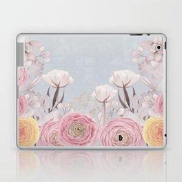 Floral Spring Greatings - Pastel Flowers Laptop & iPad Skin