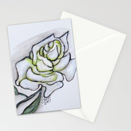 Stunning White Rose Stationery Cards