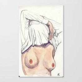 Sweater Head. Canvas Print