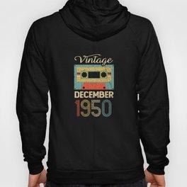 Vintage December 70 Year 1950 70th Birthday Gift Hoody