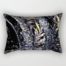 Got Frost Black and Gold by CheyAnne Sexton Rectangular Pillow