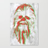 chewbacca Canvas Prints featuring Chewbacca by mangen