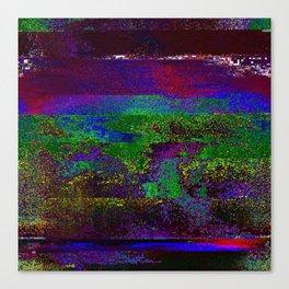 66-84-01 (Earth Night Glitch) Canvas Print