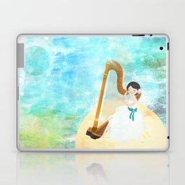 Harp girl: Music from the moon Laptop & iPad Skin