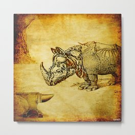 The anvil and the rhinoceros Metal Print