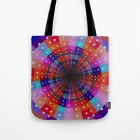 carnival Tote Bags featuring Carnival  by Laura Santeler