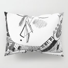 Musical Black and White: 'Melody'  Pillow Sham