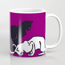 "Théophile Steinlen  ""Frise de chats"" (edited)(4) Coffee Mug"