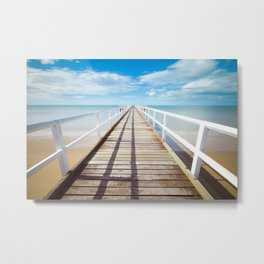 Boardwalk on the Beach Metal Print
