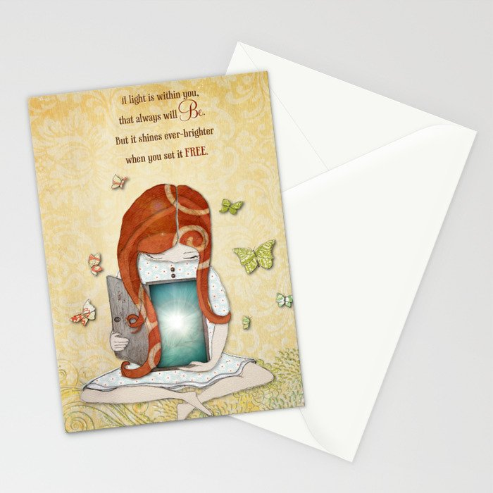 Light within you Stationery Cards