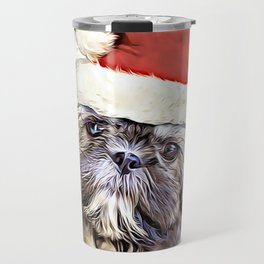 Christmas Shih Tzu puppy Travel Mug