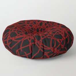 Defined by Red Floor Pillow