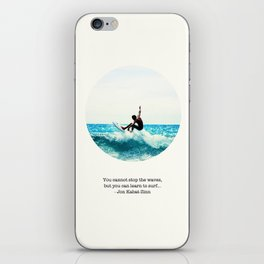 Surf Quote iPhone Skin
