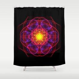 Silkweave / Neon Sigil 1 Shower Curtain