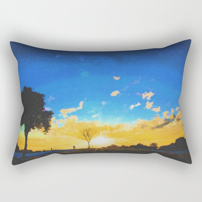 Before dusk melted colors of the world. Rectangular Pillow