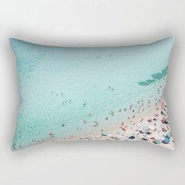 Busy Beach Rectangular Pillow